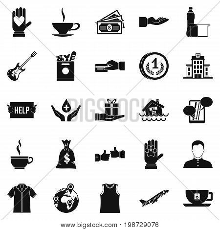 Alms-deed icons set. Simple set of 25 alms-deed vector icons for web isolated on white background