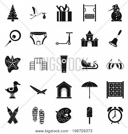 Playroom icons set. Simple set of 25 playroom vector icons for web isolated on white background