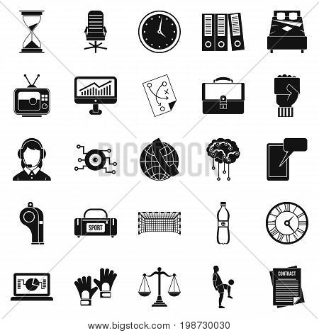 Timer icons set. Simple set of 25 timer vector icons for web isolated on white background
