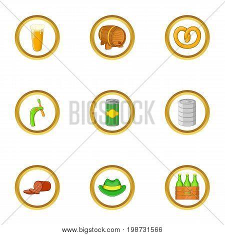 Irish icon set. Cartoon set of 9 irish vector icons for web isolated on white background
