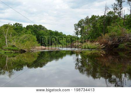 Harstad County Park beach area in Wisconsin