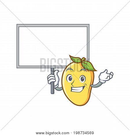 mango character cartoon mascot bring board vector art