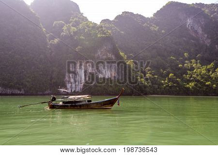 Phang Nga, Thailand 21 MAY 2017: Koh Hong Phang Nga Bay near Phuket, Andaman Sea