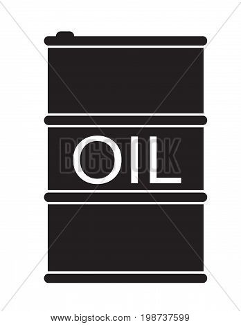 barrel oil icon on white background. flat style design. barrel oil sign.