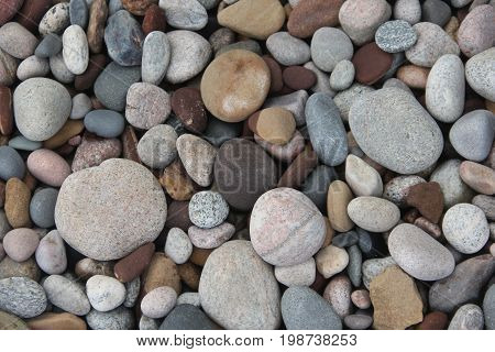 Rocks and stones on the beach of Lake Superior, Pictured Rocks National Lakeshore, Michigan