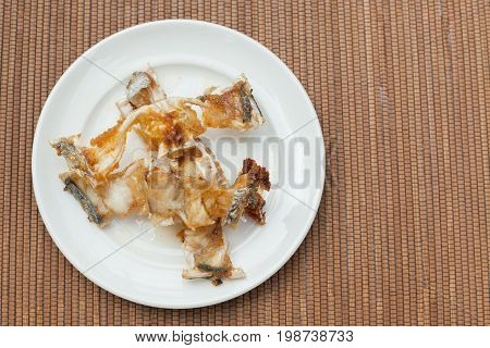 Fish Bones On A Plate