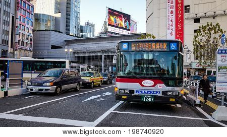 Traffic At Shibuya District In Tokyo, Japan