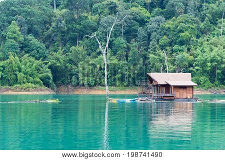 Beautiful landscape. Khao Sok National Park. Ratchaprapa dam in Surat Thani Thailand