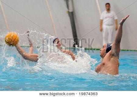 KAPOSVAR, HUNGARY - MAY 2: Hungarian national championship water-polo game between Kaposvari VK and Tipo VSC , May 02, 2009 in Kaposvar, Hungary