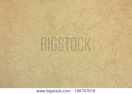 Handmade Brown Crumpled Artistic Paper Pattern Texture