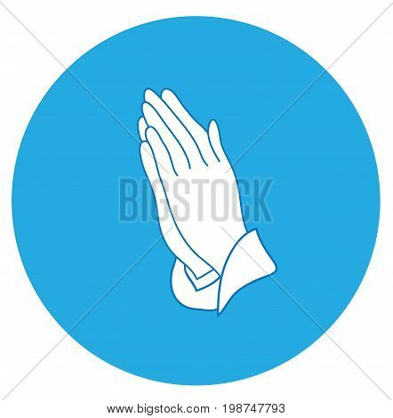 vector illustration of praying hands icon religious concept