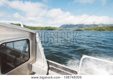 Panoramic View From Moving Boat