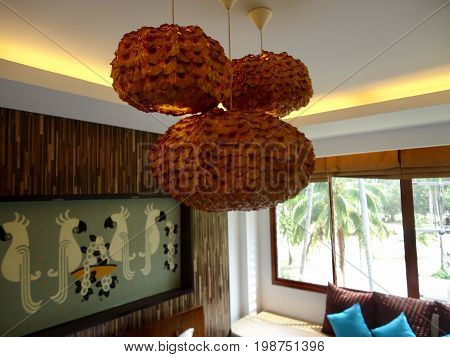 Living room beauty design in hotel and home