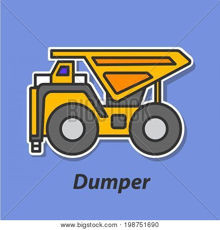 Dumper color flat icon. This is the vector icon for websites and electronic applications. This icon have a size of 48 by 48 pixels. Also you can edit the size of the icon in the graphical editor.