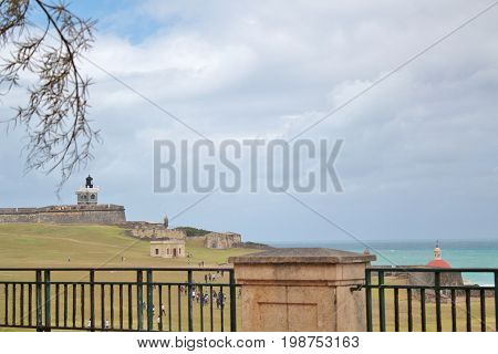 El Morro Castle Fort in Old San Juan Puerto Rico