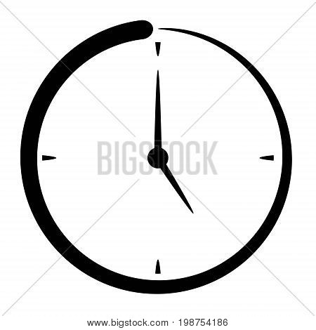 Passage of time icon, clock time to drink tea, missing time, vector concept fast lifestyle, five o'clock tea, punctuality concept