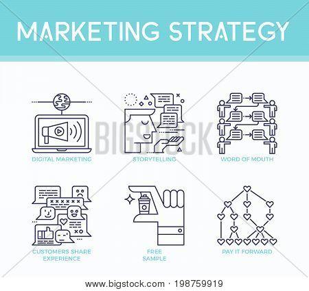 Marketing Strategy Illustration Icons