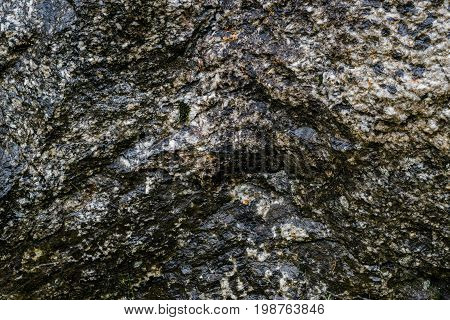 A wet rock wall texture background image