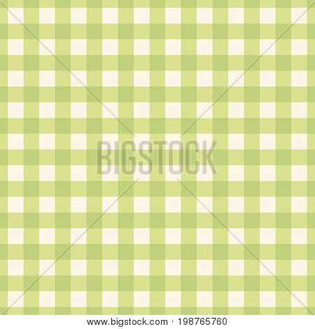 Green plaid seamless pattern. Green vector background.