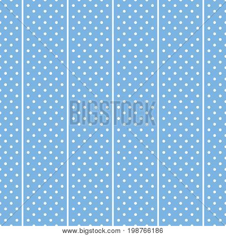Seamless white and blue polka dots fabric background