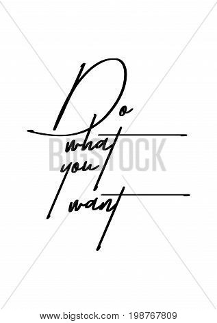 Hand drawn holiday lettering. Ink illustration. Modern brush calligraphy. Isolated on white background. Do what you want.