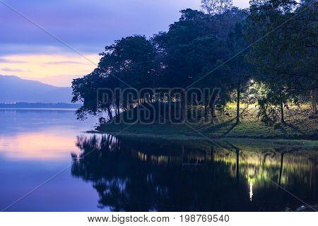 Reservoir Peak,natureFirst light on the reservoir,Reservoir Peak