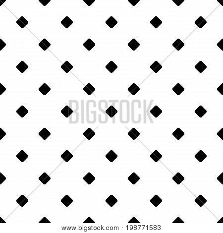 Repeating abstract monochrome square pattern - halftone vector background graphic from diagonal rounded squares