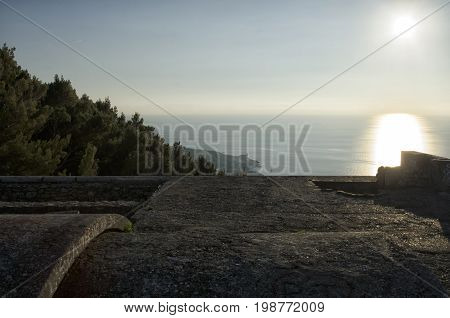 View from the roof of the Mausoleum of Ciano
