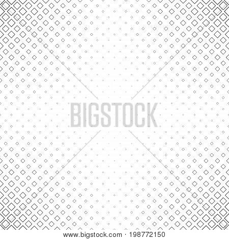 Black and white abstract square pattern background - monochrome vector graphic design from diagonal squares