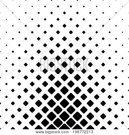 Monochromatic abstract square pattern background - black and white geometric vector graphic design from diagonal rounded squares