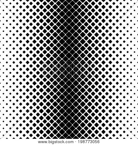 Monochrome abstract vertical square pattern background - black and white geometric vector illustration from diagonal rounded squares