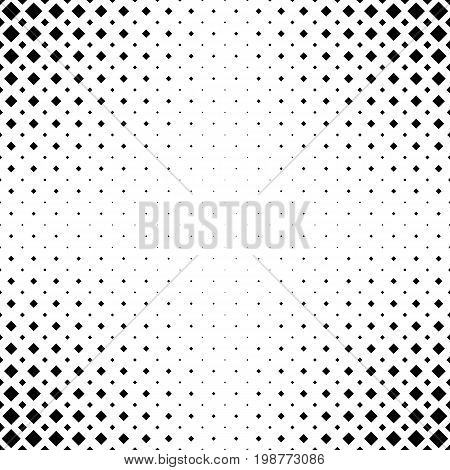 Monochrome abstract square pattern background - black and white geometrical halftone vector graphic design from diagonal squares