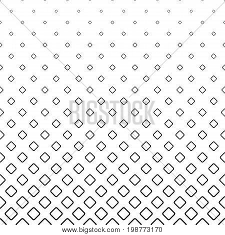 Monochromatic abstract square pattern background - black and white geometrical halftone vector graphic from diagonal rounded squares