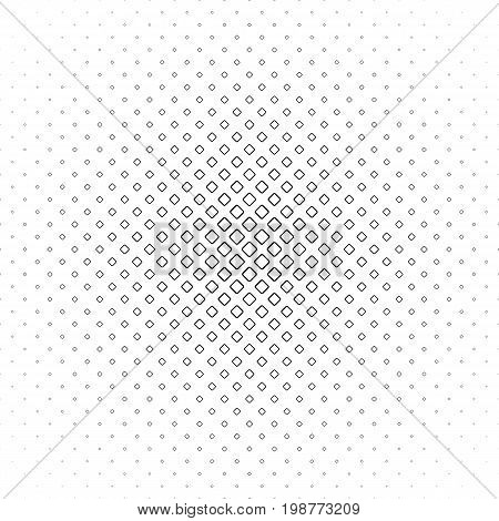 Black and white square pattern - geometrical halftone abstract vector background design from diagonal rounded squares