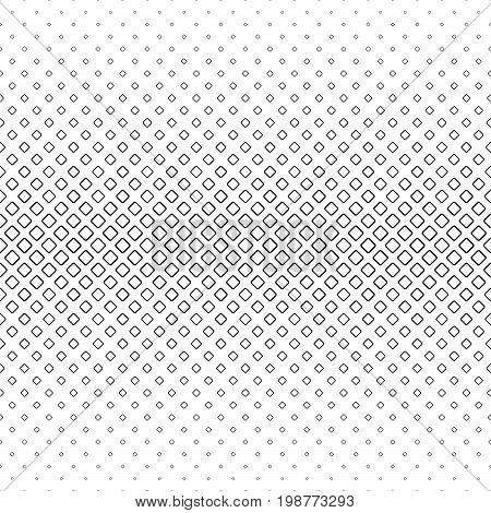Monochrome square pattern - geometrical halftone abstract vector background graphic design from diagonal rounded squares
