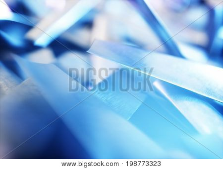 Blue industrial abstract image - turbine blades. 3D rendering.