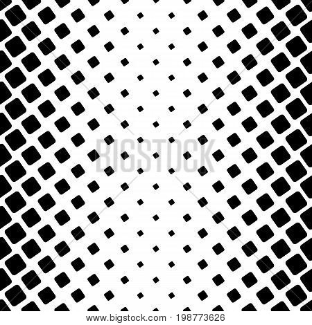 Monochromatic square pattern - geometric abstract vector background graphic from angular rounded squares