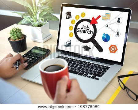 Job Search Businessman Human Online Job Resources Search Join Us Recruitment