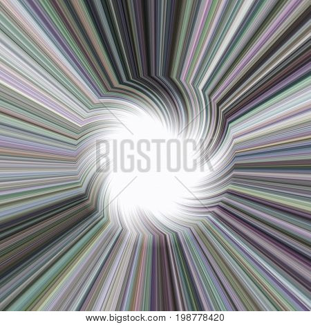 Abstract illustration of the rays in spiral