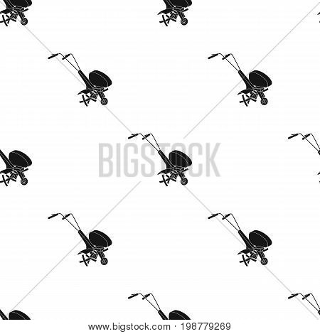 Mowers for cutting grass and lawn. Agricultural machinery for the court.Agricultural Machinery single icon in black style vector symbol stock web illustration.