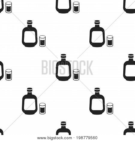 Herbal liqueur icon in black style isolated on white background. Alcohol symbol vector illustration.
