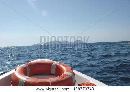 View of beautiful islands of Tyrrhenian sea