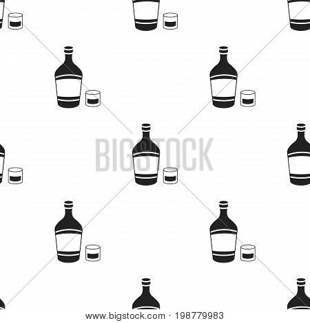 Liqueur icon in black style isolated on white background. Alcohol symbol vector illustration.