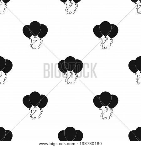 Blue pink and yellow balloons for children. Children's toys in the amusement park.Amusement park single icon in black style vector symbol stock web illustration.