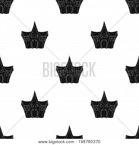 A haunted house, a room of fear in an amusement park. Attraction for the fearless.Amusement park single icon in black style vector symbol stock web illustration.