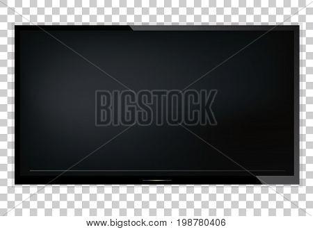 TV, modern blank screen lcd, led, on isolate background, stylish vector illustration EPS10.