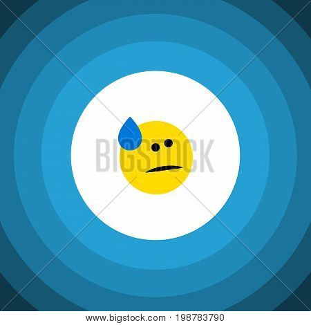 Tears Vector Element Can Be Used For Tears, Sad, Emoji Design Concept.  Isolated Cold Sweat Flat Icon.