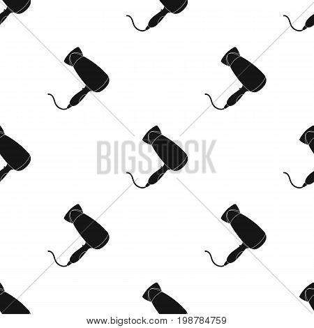 Hair dryer.Barbershop single icon in black style vector symbol stock illustration .