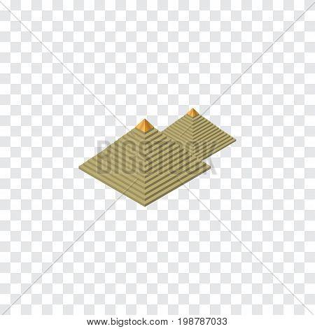 Egypt  Vector Element Can Be Used For Pyramids, Egypt, Attraction Design Concept.  Isolated Pyramids Isometric.