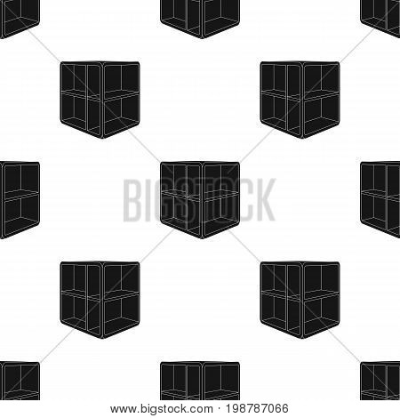 Small room coffee table.White table with cells.Bedroom furniture single icon in black style vector symbol stock web illustration.